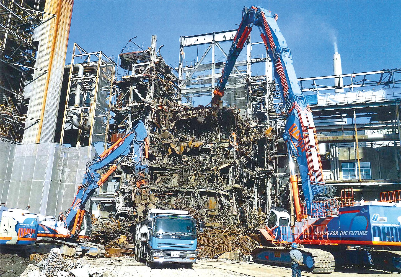 周南市某工場解体工事